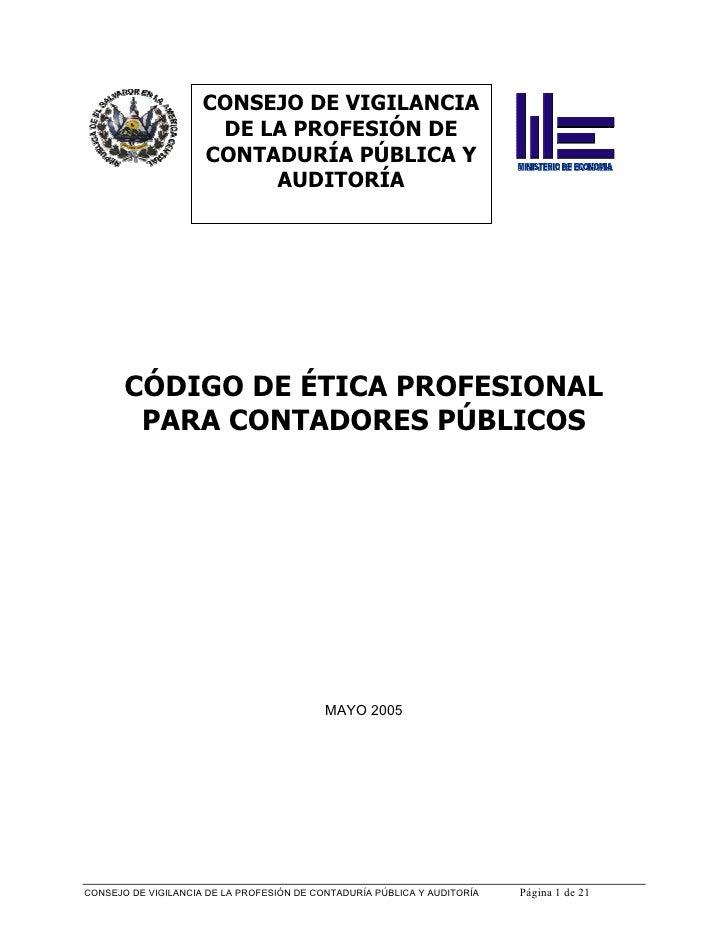 CONSEJO DE VIGILANCIA                      DE LA PROFESIÓN DE                     CONTADURÍA PÚBLICA Y                    ...
