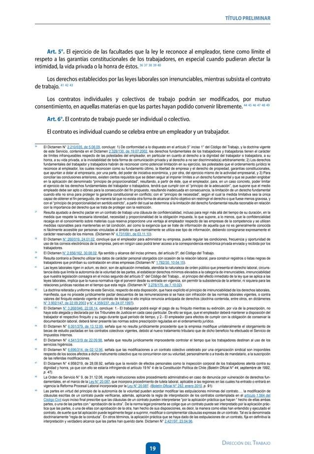 24 Dirección del Trabajo LIBRO I DEL CONTRATO INDIVIDUAL DETRABAJOY DE LA CAPACITACIÓN LABORAL Título I : DEL CONTRATO IND...