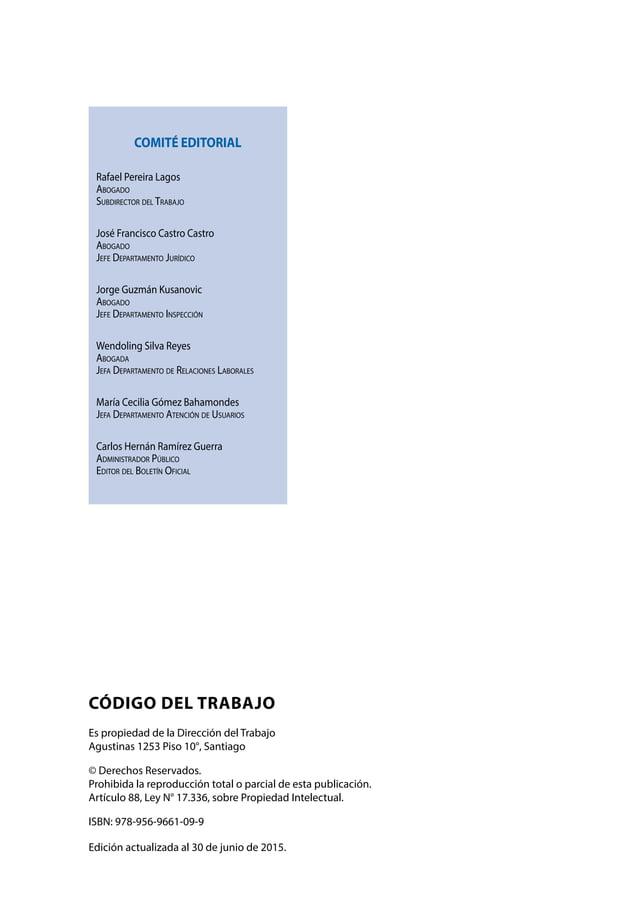 ÍNDICE CÓDIGO DELTRABAJO Dirección del Trabajo ÍNDICE GENERAL 5 ÍNDICE GENERAL 11 FIJA EL TEXTO REFUNDIDO, COORDINADO Y ...