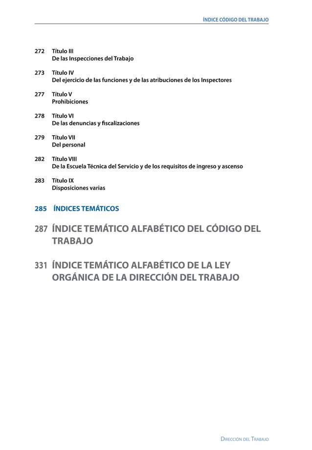 11 Dirección del Trabajo Ministerio delTrabajoy PrevisiÓn Social SUBSECRETARÍA DELTRABAJO FIJA EL TEXTO REFUNDIDO, COORDIN...