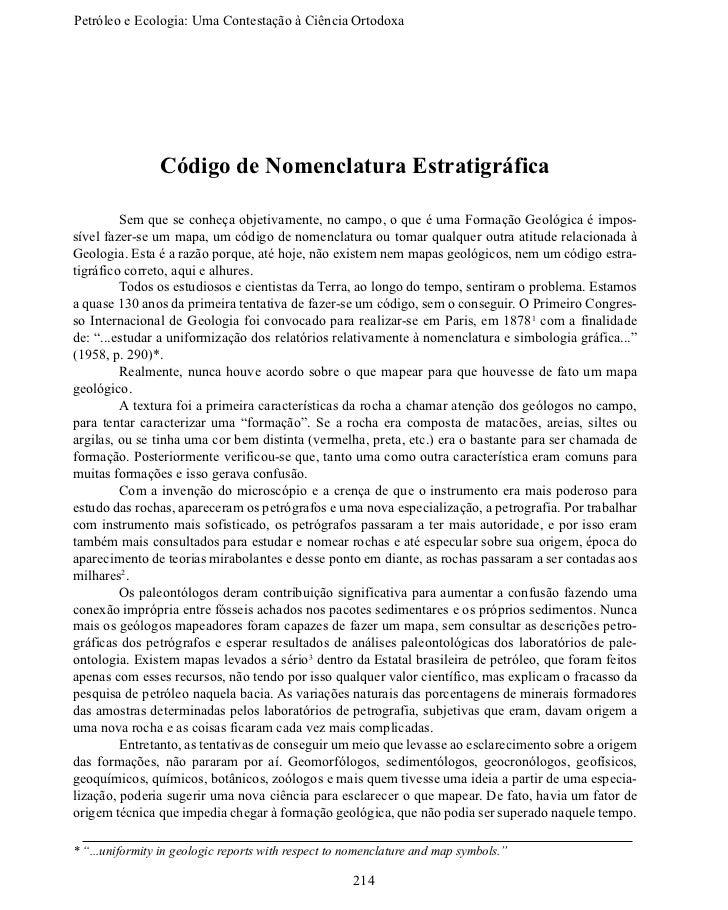 Petróleo e Ecologia: Uma Contestação àCiênciaOrtodoxa                Código de Nomenclatura Estratigráfica        Sem q...
