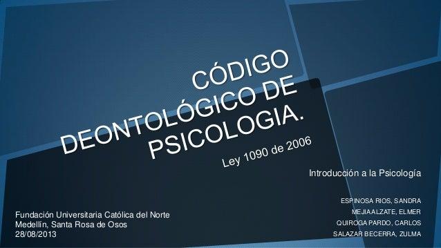 Introducción a la Psicología ESPINOSA RIOS, SANDRA MEJIAALZATE, ELMER QUIROGA PARDO, CARLOS SALAZAR BECERRA, ZULMA Fundaci...