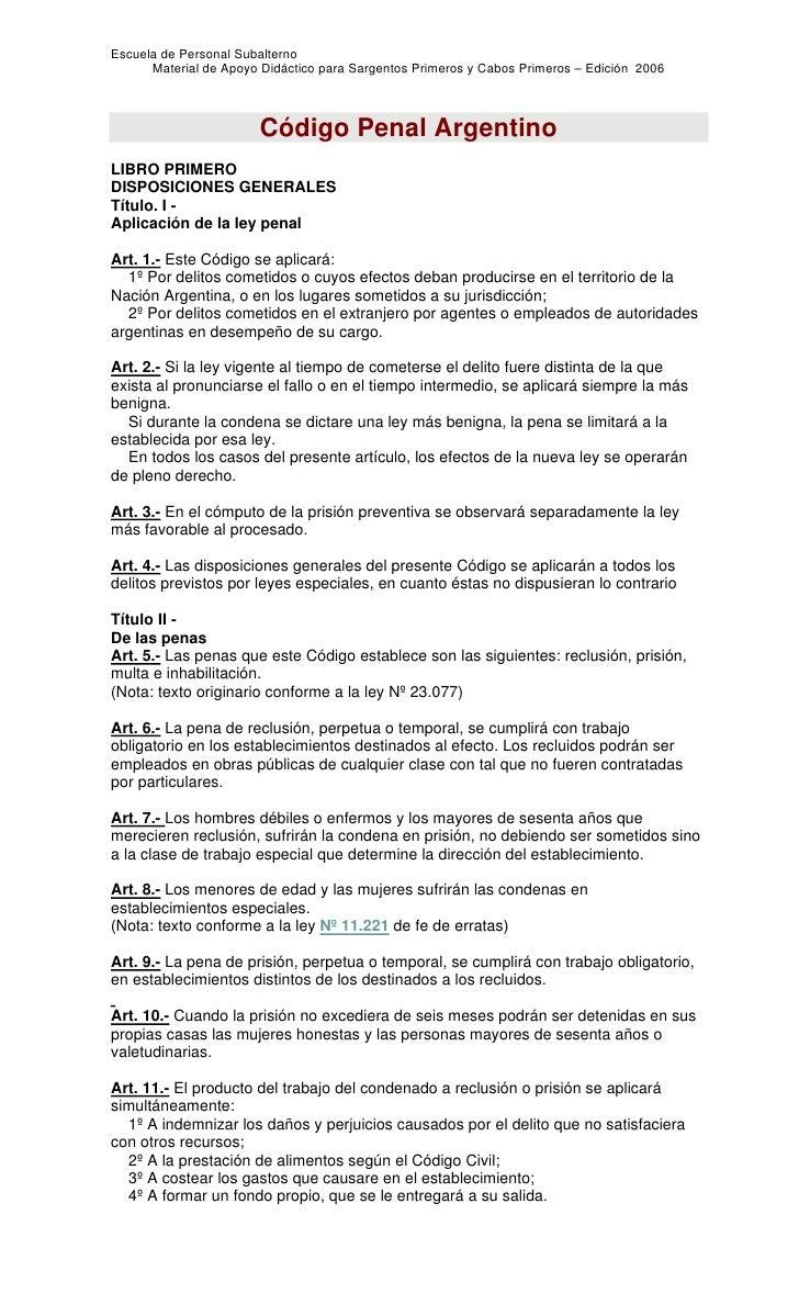 Escuela de Personal Subalterno      Material de Apoyo Didáctico para Sargentos Primeros y Cabos Primeros – Edición 2006   ...