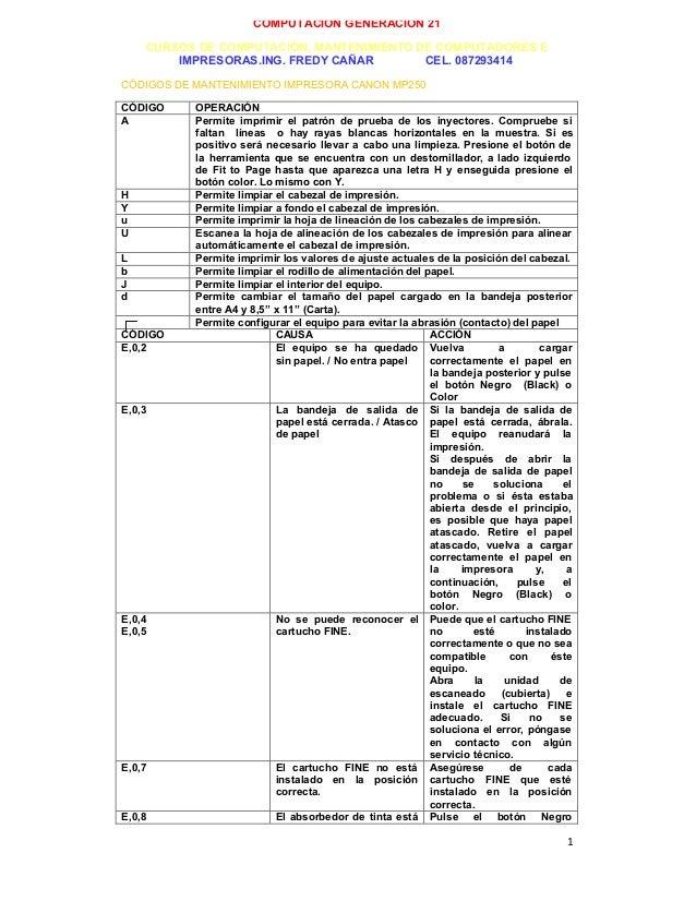 Codigos de-mantenimiento-impresora-canon-mp250