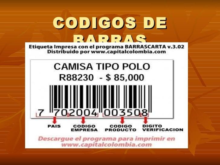 CODIGOS DE BARRAS