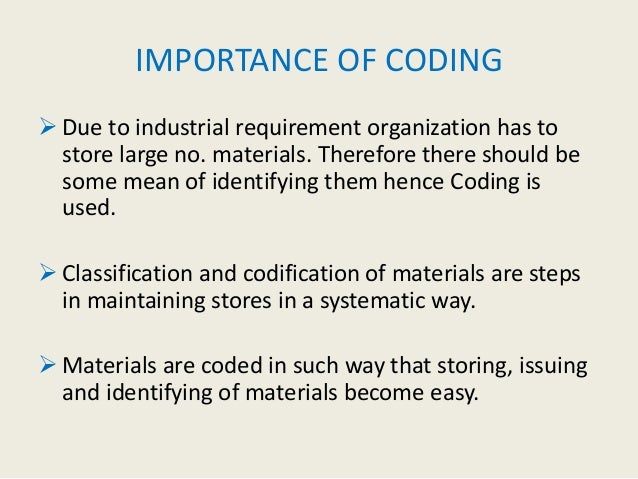 importance of codification