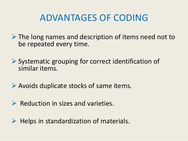 stock coding methods