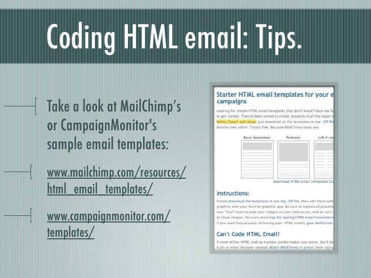 Coding HTML Email Best Practices Tips - Simple html email template code