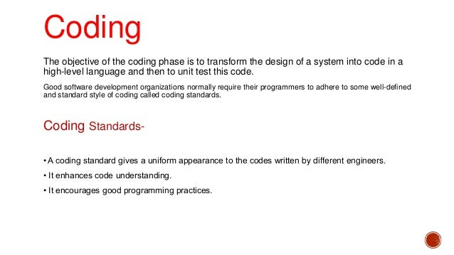 Coding And Testing In Software Engineering