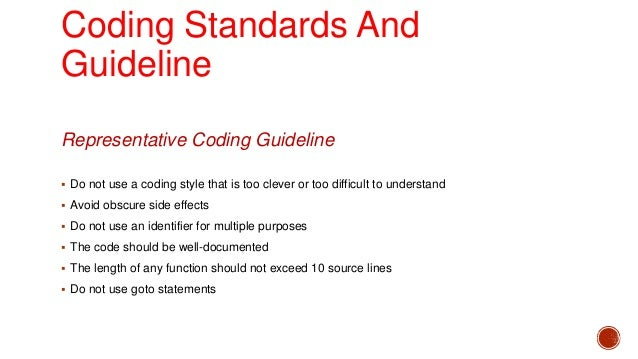 Coding standards in software engineering ppt.