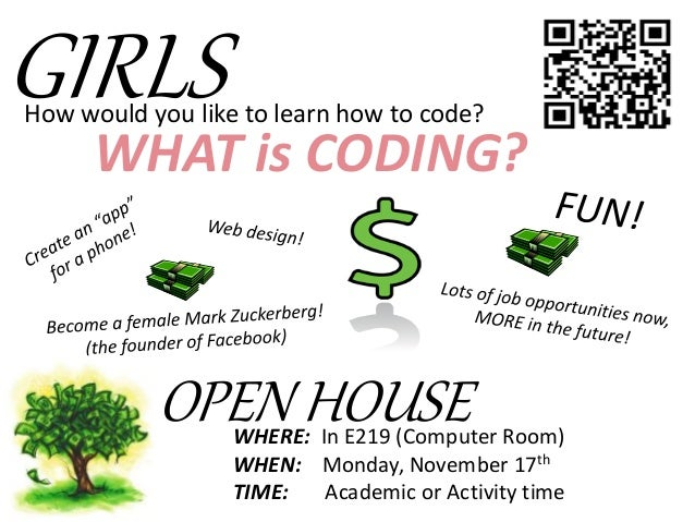 coding club introduction poster