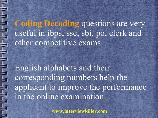 Page 1 of 47 for Coding - Decoding - Verbal Reasoning ...