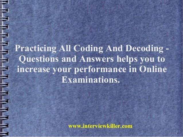 Coding And Decoding Tricks - YouTube
