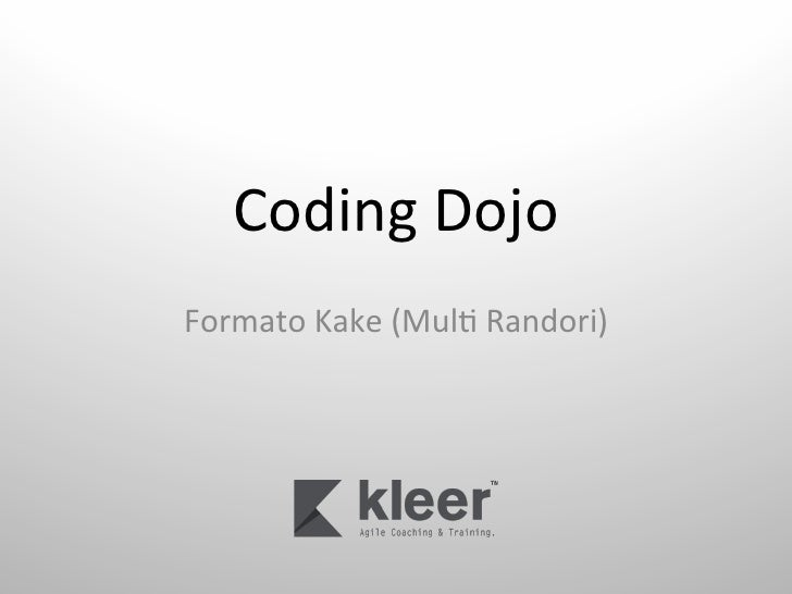 Coding Dojo Formato Kake (Mul6 Randori)