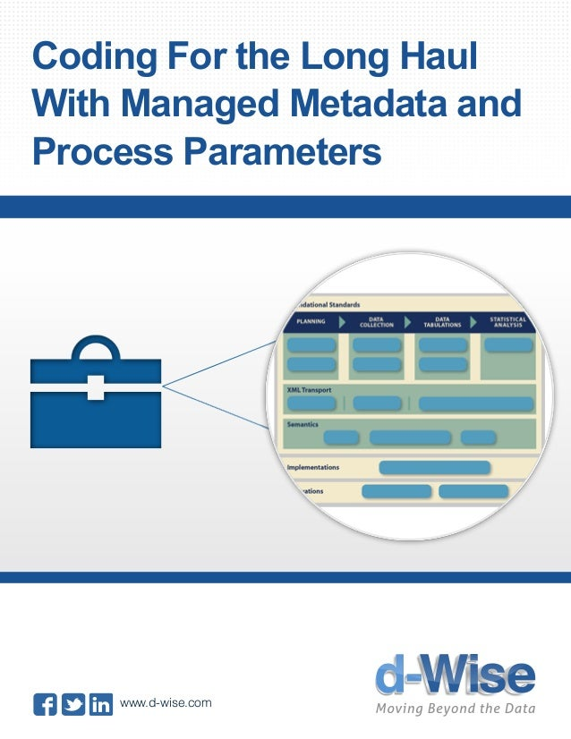 Coding For the Long Haul With Managed Metadata and Process Parameters www.d-wise.com