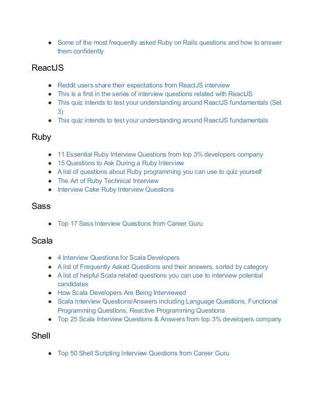 Cписок ресурсов для собеседования по программированию