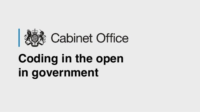 Coding in the open in government