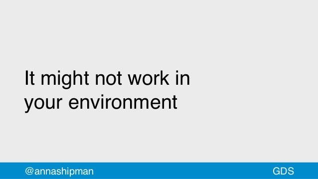 It might not work in yourenvironment @annashipman GDS