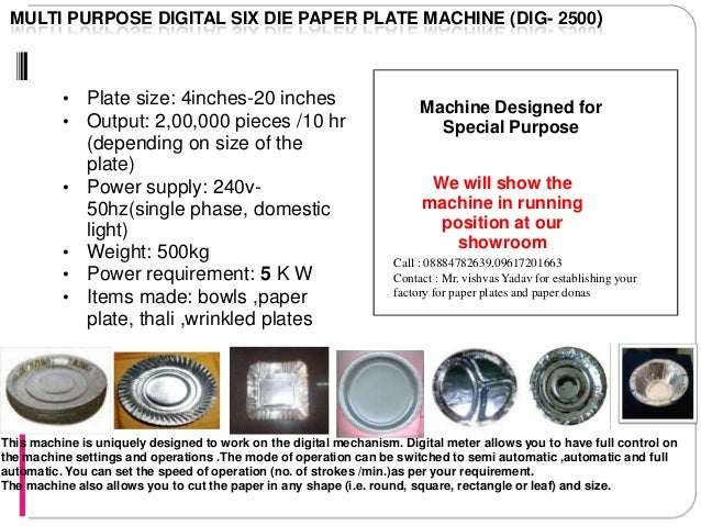 21. MULTI PURPOSE DIGITAL SIX DIE PAPER PLATE ...  sc 1 st  SlideShare & Codoca mtvcola paper plate and douna making machines