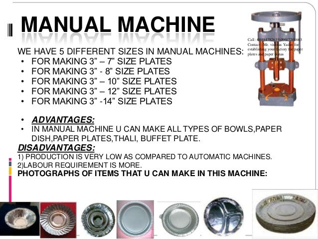 sc 1 st  SlideShare & Codoca mtvcola paper plate and douna making machines