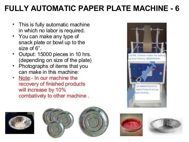 ... 5. FULLY AUTOMATIC PAPER PLATE ...  sc 1 st  SlideShare & Codoca mtvcola fully automatic paper douna and paper plate manufactur\u2026