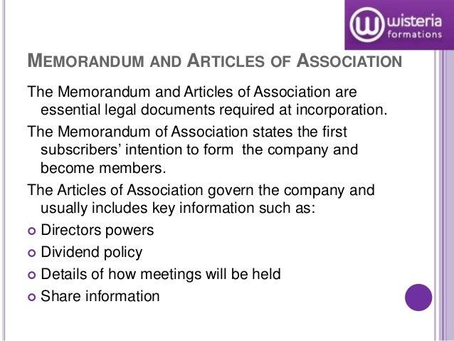 memorandum of association of a company pdf