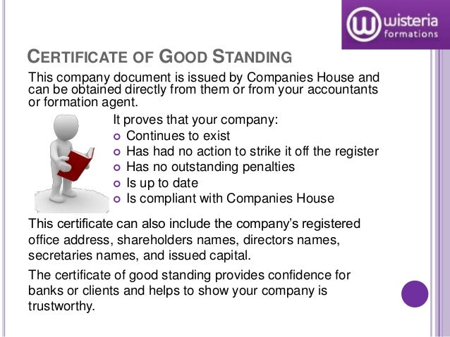 Limited company documents certificate of good standing yadclub Image collections