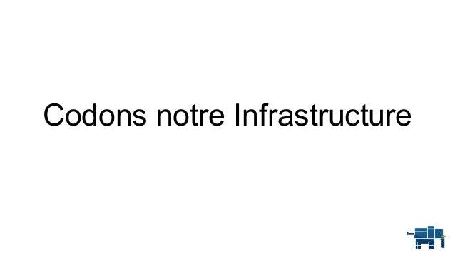 Codons notre Infrastructure