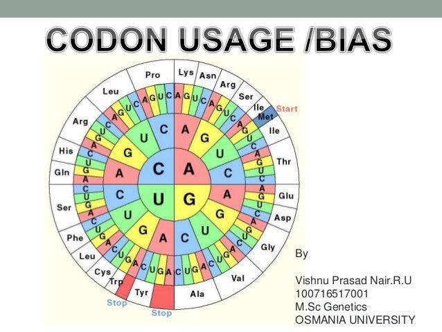 Codon usage/bias