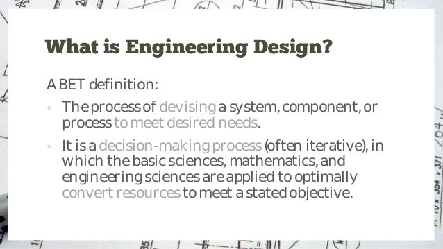 Introduction To Engineering Design Process