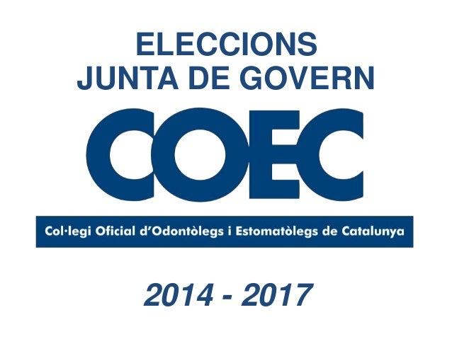 ELECCIONS JUNTA DE GOVERN 2014 - 2017
