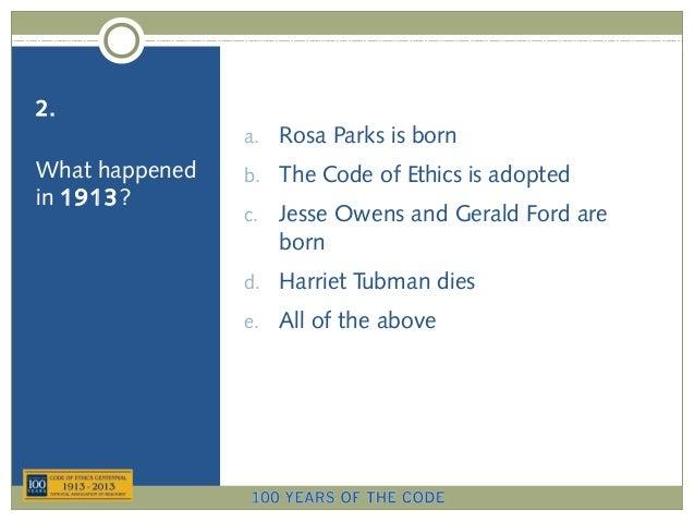 REALTOR® Code of Ethics Centennial Quiz