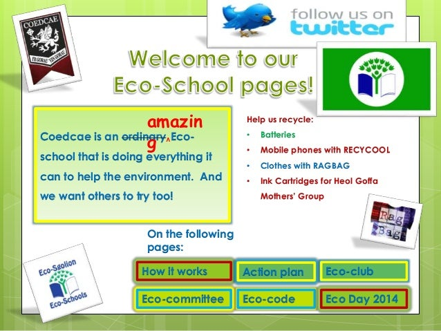 coedcae eco school website powerpoint
