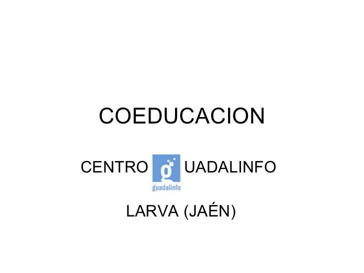 COEDUCACION CENTRO  G  UADALINFO  LARVA (JAÉN)