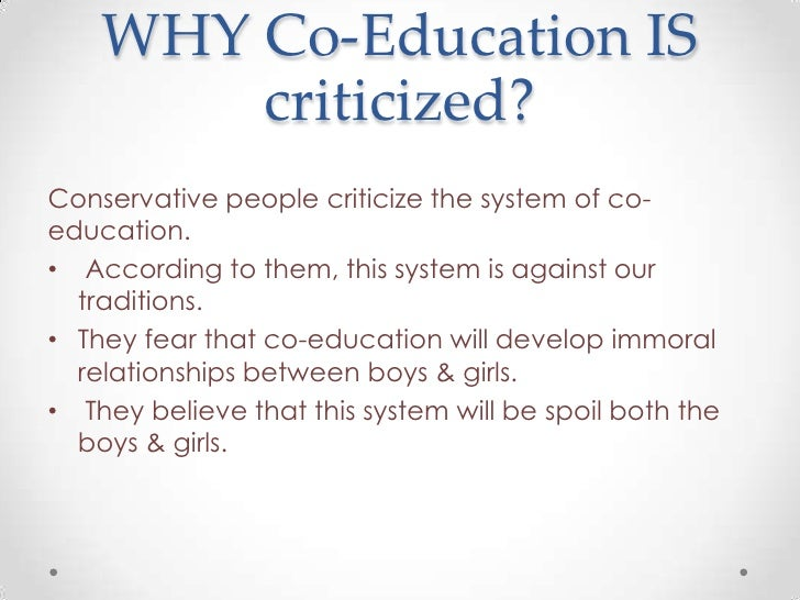 Short Essay on the Advantages of Co-education