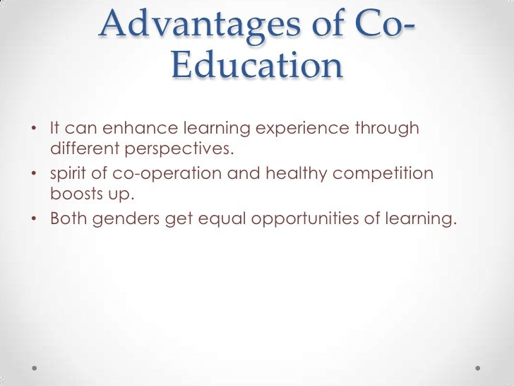 an essay on co-education