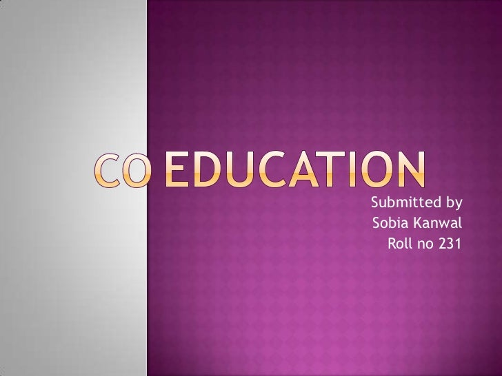 coeducation coeducation<br > submitted