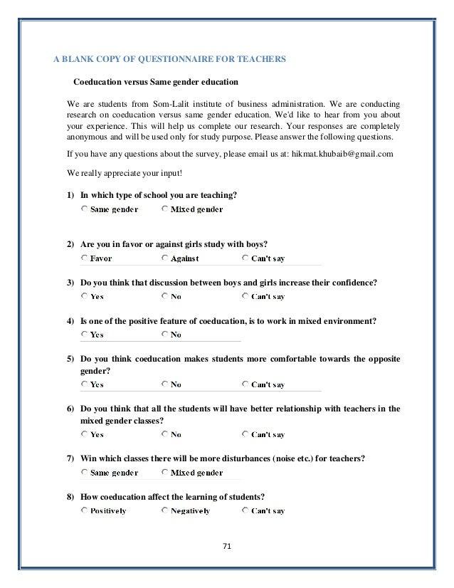 sample questionnaire template