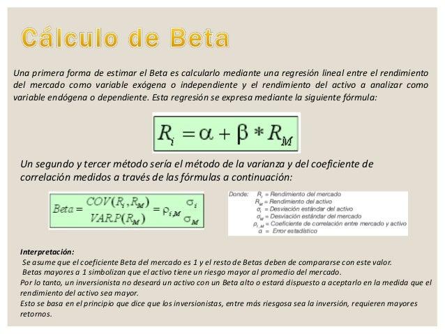 Coeficiente beta for Que es una beta de oro