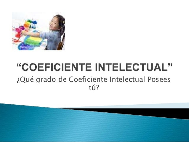 Coeficiente intelectual norma Slide 2