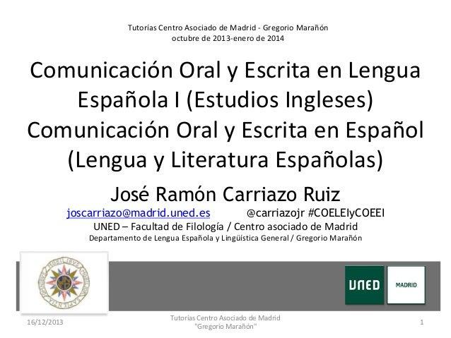La expresi n oral errores y problemas de pronunciaci n en for Centro asociado de madrid