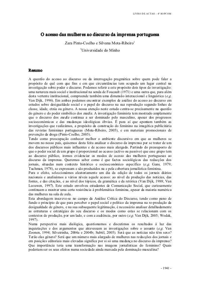 LIVRODEACTAS– 4ºSOPCOM         Oacessodasmulher esaodiscur sodaimpr ensapor tuguesa                         ...