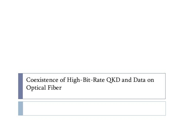 Coexistence of High-Bit-Rate QKD and Data on Optical Fiber