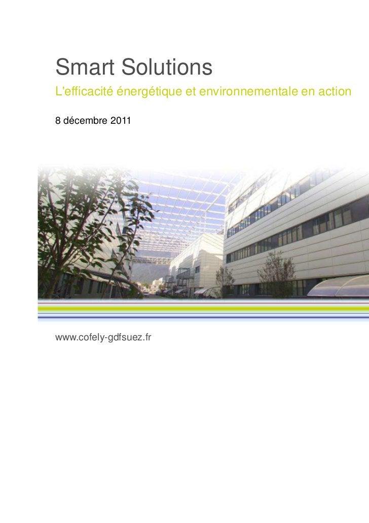 Smart SolutionsLefficacité énergétique et environnementale en action8 décembre 2011www.cofely-gdfsuez.fr
