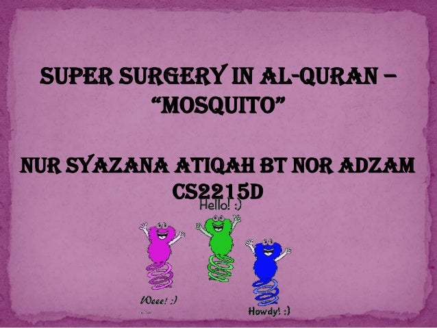 "SUPER SURGERY IN AL-QURAN – ""MOSQUITO"" NUR SYAZANA ATIQAH BT NOR ADZAM CS2215D"
