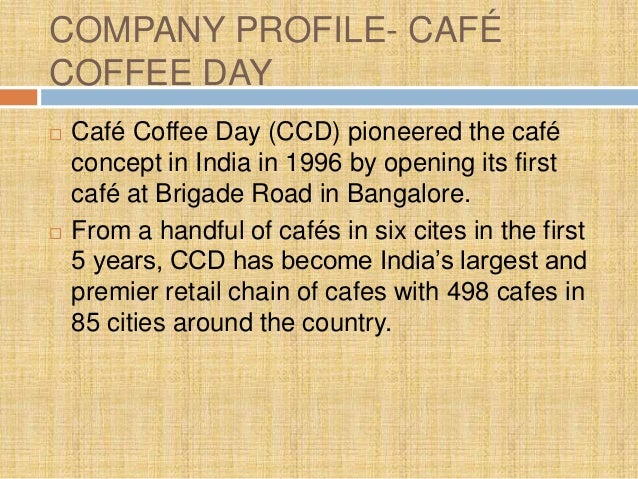 ANALYSIS OF MARKETING STRATEGIES : BARISTA VS CAFE COFFEE DAY