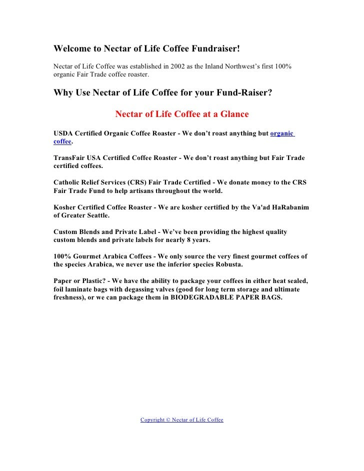 Welcome to Nectar of Life Coffee Fundraiser! Nectar of Life Coffee was established in 2002 as the Inland Northwest's first...