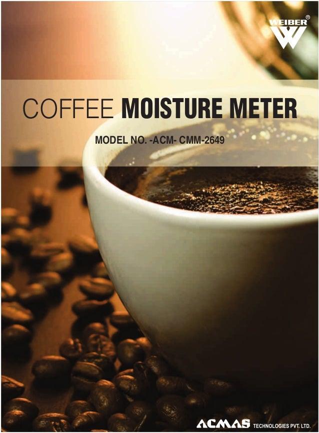 R  COFFEE MOISTURE METER MODEL NO. -ACM- CMM-2649