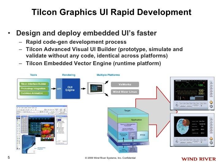Tilcon Graphics UI Rapid Development <ul><li>Design and deploy embedded UI's faster </li></ul><ul><ul><li>Rapid code-gen d...