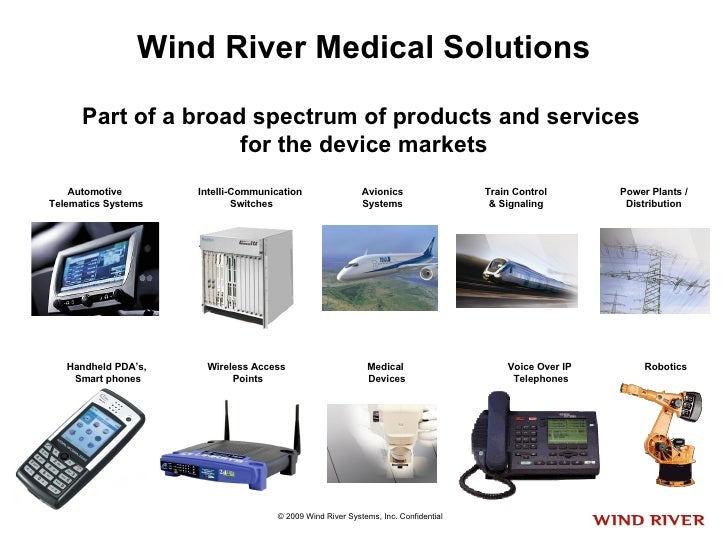 Wind River Medical Solutions Part of a broad spectrum of products and services  for the device markets Automotive Telemati...